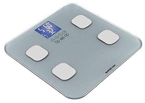 Gowise Usa Slim Digital Bathroom Scale Measures Weight Body Fat Water Bone Mass 400 Lbs