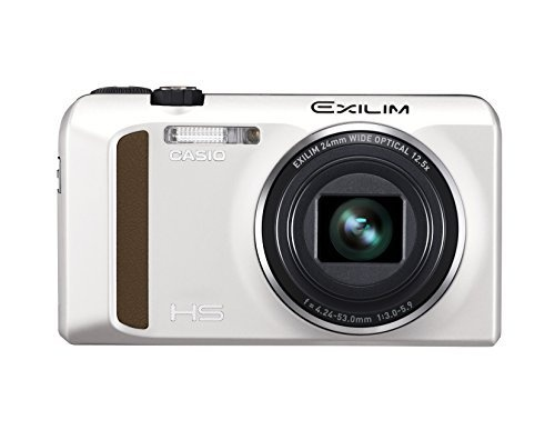 Casio High Speed Exilim Ex-ZR400 Digital Camera White EX-ZR400WE Japan Import