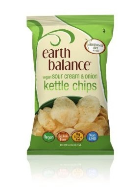Earth Balance Kettle Chips Sour Cream and Onion Flavored 5 Ounce (Pack of 12)