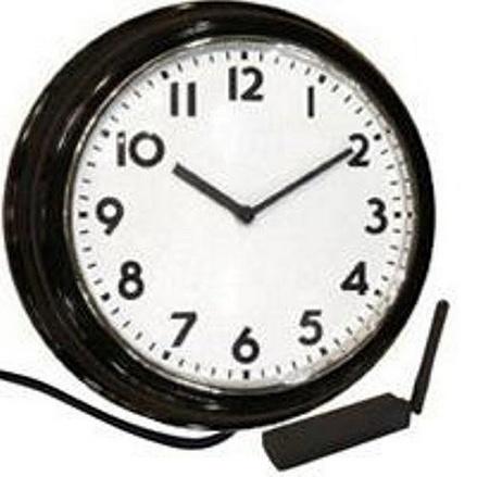 IP Wall Clock Hidden Camera w USB Receiver w Remote View
