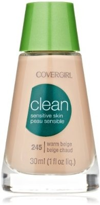 CoverGirl Clean Sensitive Skin Liquid Makeup Warm Beige 245 1.0 Ounce Bottle