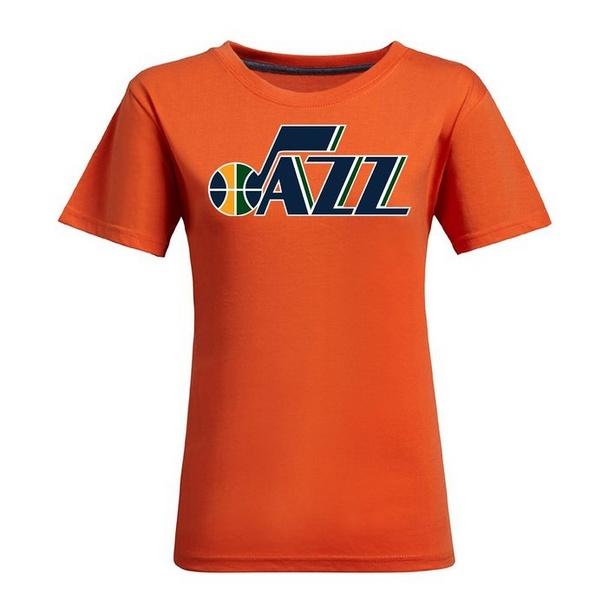 wholesale dealer bed80 06663 NBA Utah Jazz Women's Jersey T-Shirt (Orange)