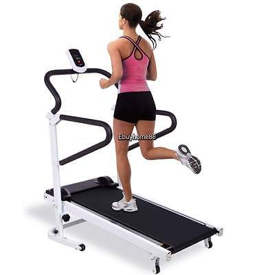 Home Gym Running Treadmill Steel Machine Fitness Workout Lose Weight Safety New