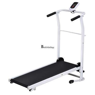 Newest 500W Folding Electric Treadmill Motorized Running Jog Machine Black PVC
