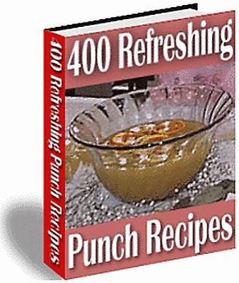 400 PUNCH RECIPES COOKBOOK PDF eBook CD + MRR RESELL RIGHTS Make Money On Line