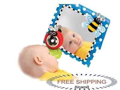 Sassy Floor Mirror Baby Newborn Gift Toy Toys Toddler Cot Crib ...