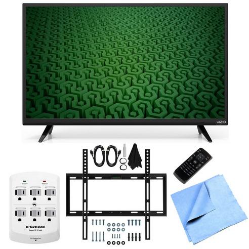 Vizio D32h-C0 - 32-Inch 60Hz HD 720p LED HDTV Slim Flat Wall Bundle