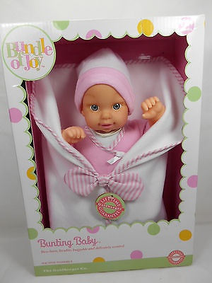 NEW Goldberger Baby Bunting Baby Girl Doll NRFB Rare Great Gift! S25.0