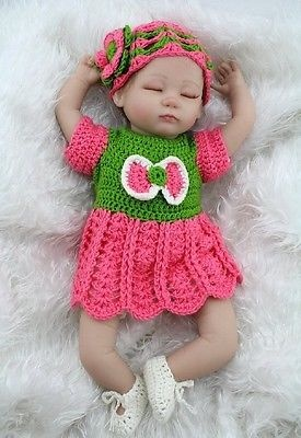 Reborn Baby Doll 16 Inch Realistic Sleeping Baby Kids Gift Toys