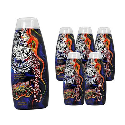 Lot 6 Ed Hardy Blowout Indoor Tanning Lotion Accelerator Bronzer Dark Tan Bed