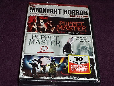 The Midnight Horror Puppet Master Collection DVD NewSealed 2-Discs