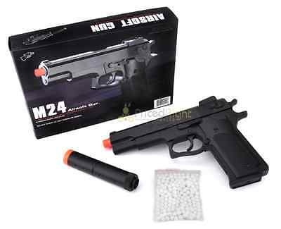 M24 Airsoft Pistol Spring Powered Hand Gun with 900 FREE 6mm Plastic BBs  Target - For Sale