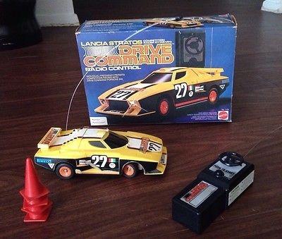 Mattel Drive Comand Remote Control Car Vintage