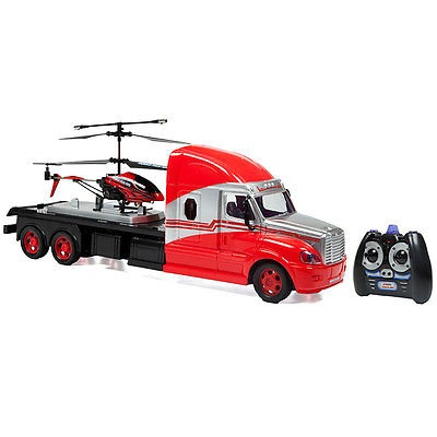 MegaHauler 3.5CH Helicopter And Electric RC Remote Control Truck IR Combo Pack