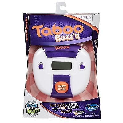 NEW HASBRO GAMING TABOO BUZZ'D ELECTRONIC PARTY Family GAME HANDHELD A7287