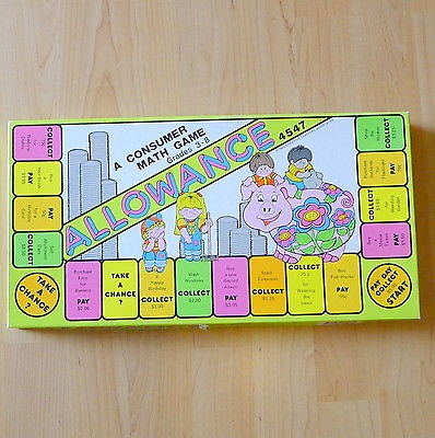 The Allowance Game Board Game 1983 Ages 5+ Homeschool Family Game Night