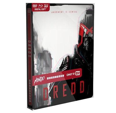 Dredd - Limited Edition Mondo X Steelbook (Blu-ray 2D3D DVD Digital) Brand New