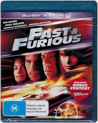 FAST & FURIOUS 4 Blu-ray + Digital UV ~ Brand New & Sealed