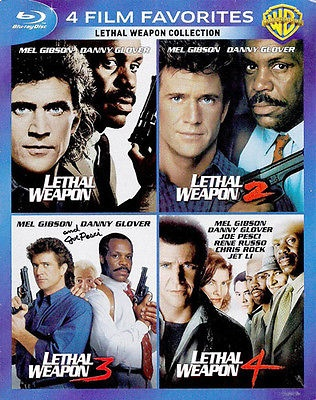 Lethal Weapon 1  2  3  4 BLU-RAY NEW [4 Disc]