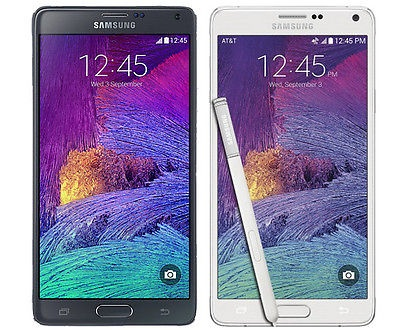 Samsung Galaxy Note 4 32GB SM-N910T GSM UNLOCKED 4G LTE Android BlackWhite (MR)