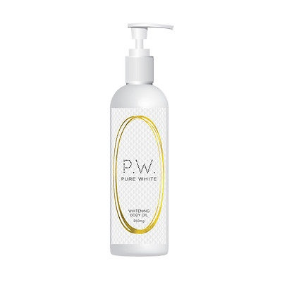 PURE WHITE WHITENING BODY OIL STOPS PIGMENTATION DARK PATCHES MELASMA FAIR