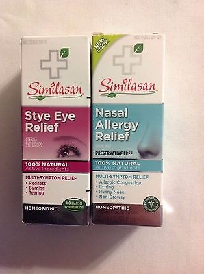 (2) Similasan Nasal Allergy Relief + Stye Eye Relief ~ Insurance + Track # Incl