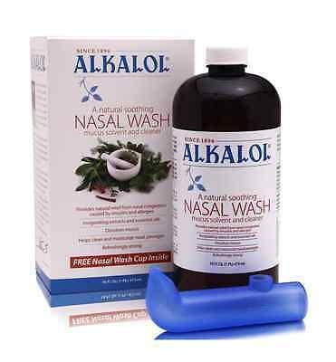 Alkalol Soothing Nasal Wash with Nasal Wash Cup Cleaner Kit
