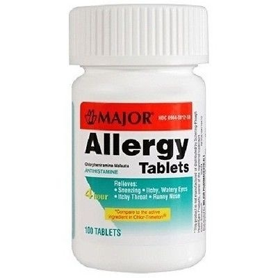 Chlorpheniramine 4 Mg Tabs 100 Ct Bottle - Major Pharma