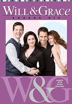 Will & Grace - Season 6 (DVD 2007 4-Disc Set)