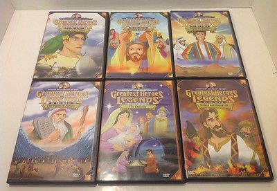6 DVD Lot Greatest Heroes and Legends of the Bible - Old Testament