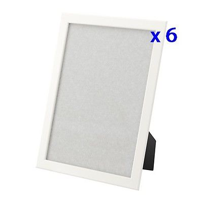 6 x Brand New IKEA FISKBO 8 12 x 11 White Wood Picture Frames – For ...