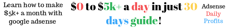 Adsense Daily Profits